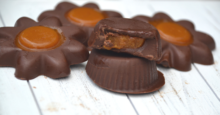 Keep the Halloween treats simple, nutritious and delicious with these pumpkin filled chocolates. Free of major allergens but full of flavor.