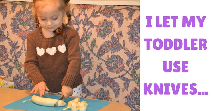 Sometimes it seems like more of a hassle than it's worth to get your kids in the kitchen. But that work will pay off, especially if you start early. That's why I let my toddler use knives!