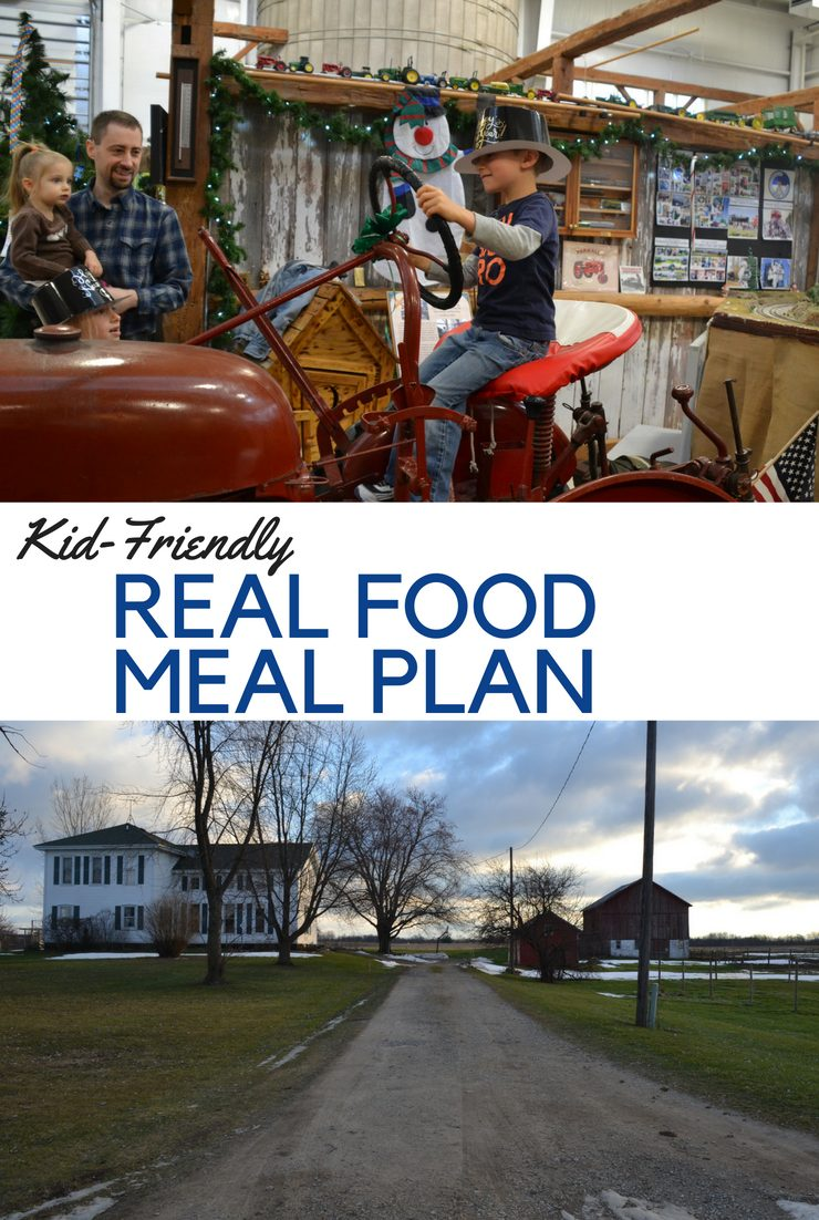 This week's kid-friendly real food meal plan and agenda focus on getting back into routines, starting school and making nourishing food.
