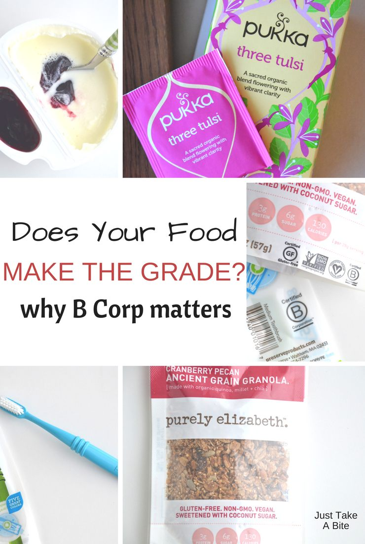 When it comes to our food, quality matters! That's why I support B Corp certified products like Stonyfield Yogurt and many more.