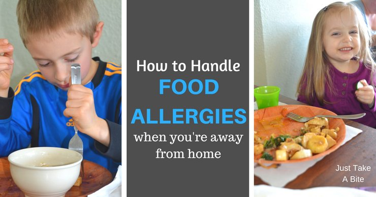 Cooking for a family with allergies is manageable, though sometimes challenging. What happens when you leave the comfort of your own kitchen? How do you handle food allergies then?