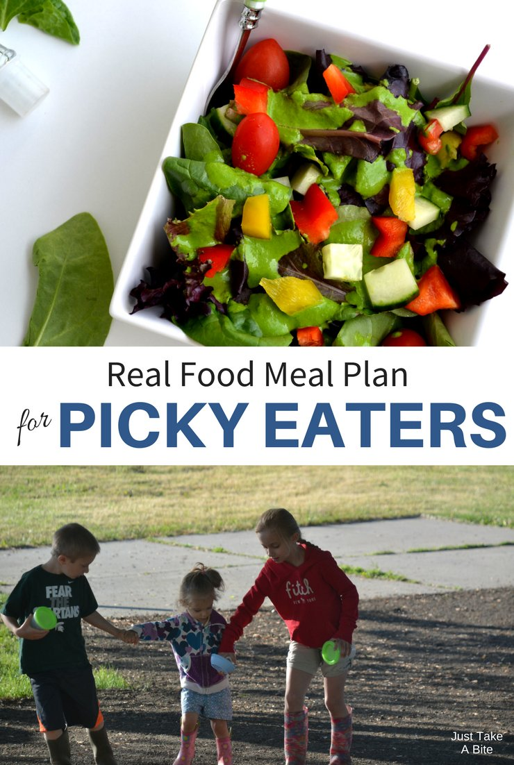 This week's real food meal plan for picky eaters includes tacos, sloppy joes and a picnic! With family in town we'll be enjoying lots of good food and fun.
