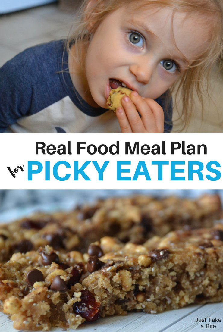 This week's real food meal plan for picky eaters includes roast chicken, meatballs and salad. It's exciting to have fresh produce in season again like greens and asparagus!