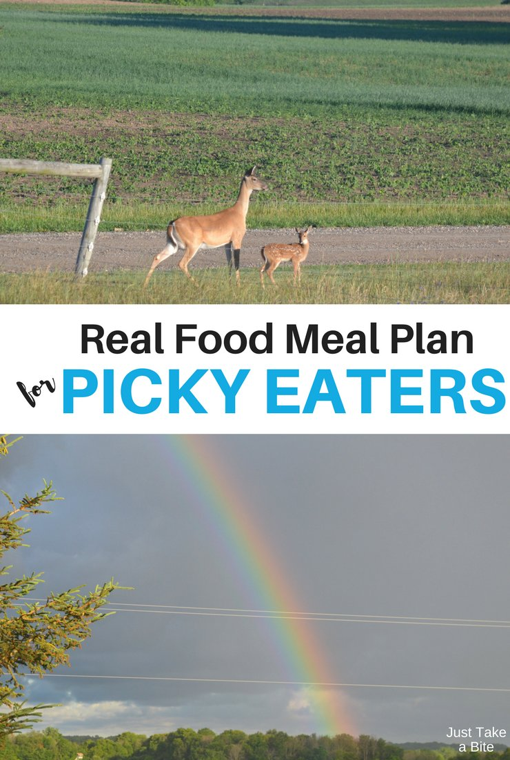This week's real food meal plan for picky eaters includes grilling, freezer meals and cherries! We're still enjoying lots of lettuce, peas and broccoli from the garden too.