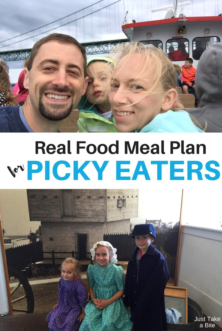 This week's real food meal plan for picky eaters includes sloppy joes, tacos and fresh corn on the cob!