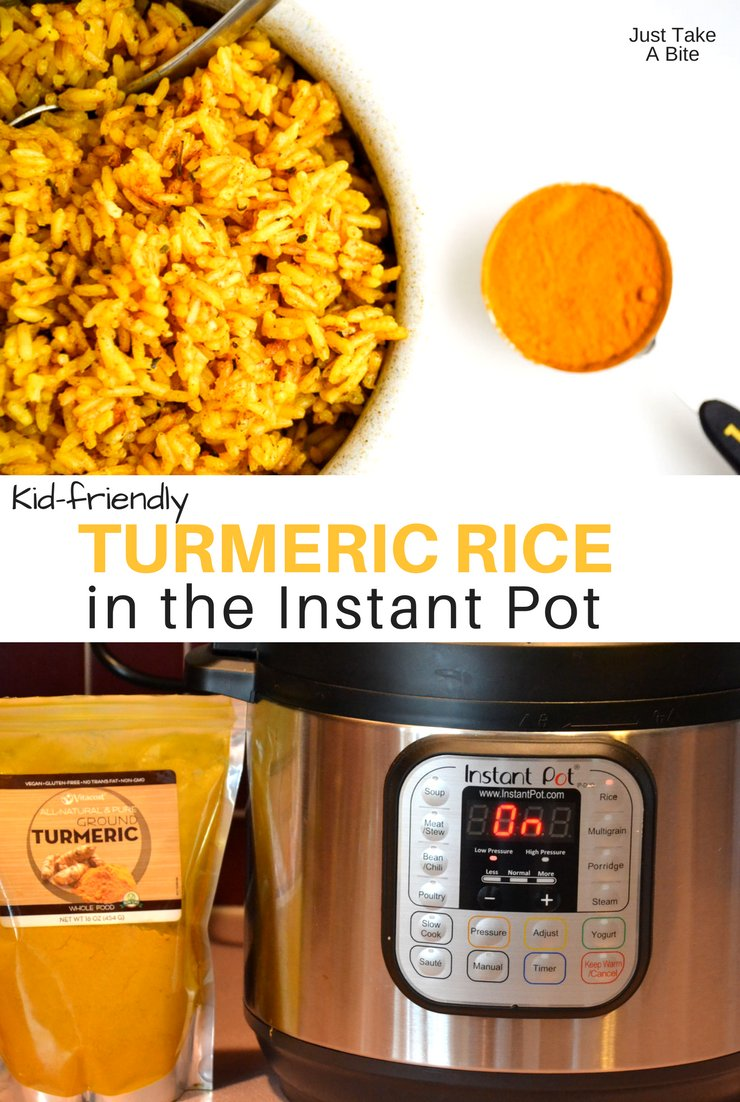 Need a simple side dish that boosts the nutrient content of your meal while still tasting great? This Instant Pot turmeric rice is kid-friendly and so easy to make!