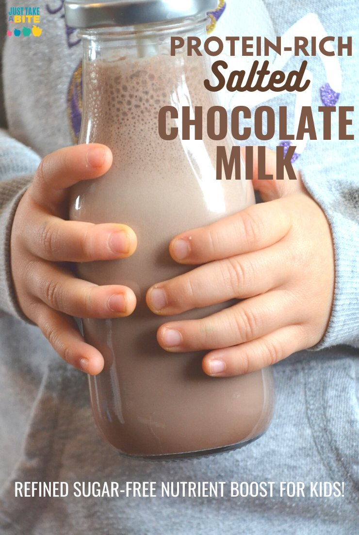 Healthy Chocolate Milk for Kids with a protein boost!