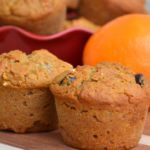 Looking for an easy, egg-free snack or breakfast? These naturally sweetened gluten-free orange raisin muffins are the perfect hand-held treat that both kid and adults love!