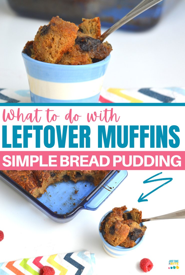 How to use up leftover muffins. Don't let those extra muffins go to waste! Whether they are getting stale or are starting to crumble, leftover muffins make amazing bread pudding. #leftovermuffins #simplefood #glutenfree #breadpudding