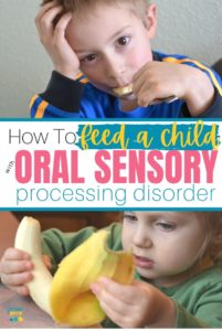 Are meal times a battle? Is your child's diet limited due to flavors, textures and trouble chewing? Here are the best strategies for feeding a child with oral sensory processing disorder. #oralspd #pickyeaters #feedingkids