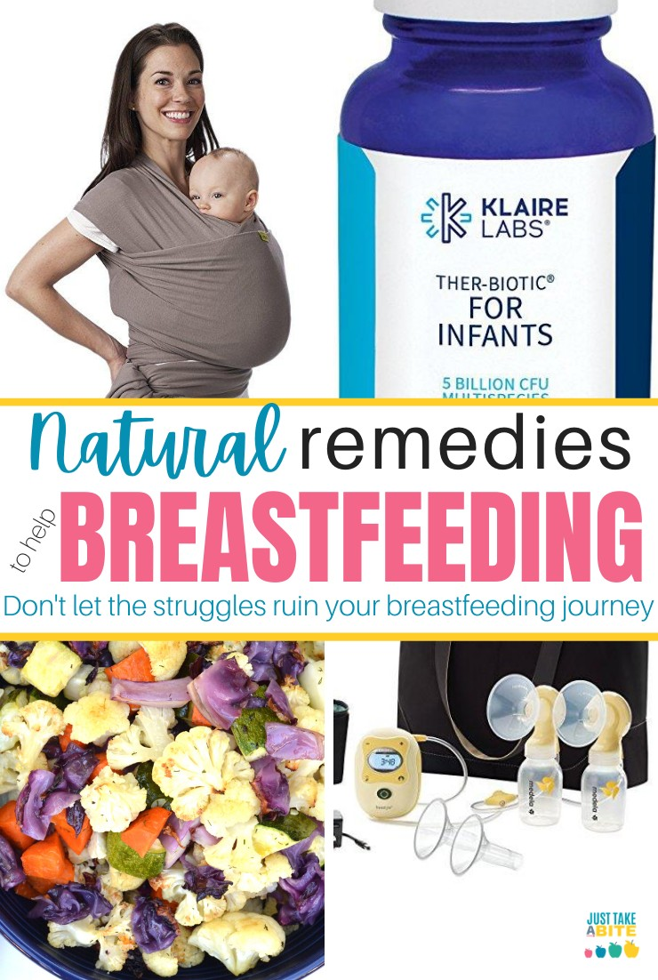 When it comes to feeding baby, breast is best. But that doesn't mean it's always easy! Breastfeeding a baby can be a big struggle. Here are some simple natural remedies to help breastfeeding when the journey is hard. #breastfeeding #naturalhealth #breastisbest #feedingbaby
