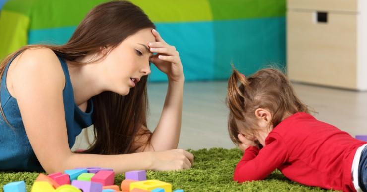 Kids having tantrums